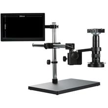 Full HD 38MP 1080P 2K 60FPS Video Macchina Fotografica del Microscopio 120X 180X 300X HDMI USB Lente di Ingrandimento di Memorizzazione Carta di TF lente di ingrandimento di Saldatura di Riparazione