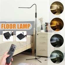 Floor-Lamps Tripod Led-Light-Clamp Remote-Controller Reading Study-Room Dimmable Adjustable-Height