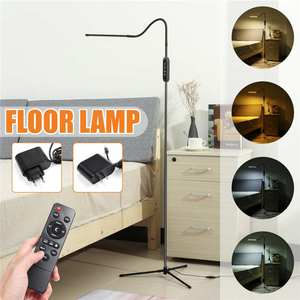 10W Indoor Adjustable Height Floor Lamps For LED Light Clamp Dimmable Reading Desktop Lamp Tripod Study Room+Remote Controller(China)