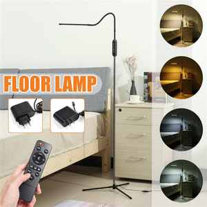 Floor-Lamps Tripod Led-Light-Clamp Remote-Controller Reading Dimmable Adjustable-Height