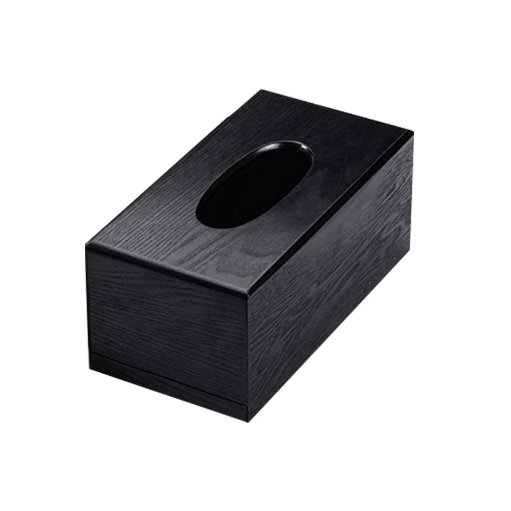 Деревянная коробка для салфеток, деревянная коробка для хранения салфеток прямоугольной формы, Рабочий стол для гостиной, бумажный лоток, коробка для хранения бумаги - Color: B