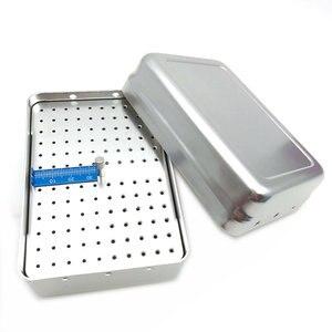 Image 4 - Новинка, держатель для стоматологических инструментов с 120 отверстиями, дезинфекционная коробка для стерилизатора автоклава с линейкой