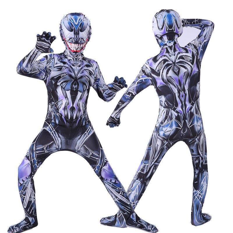 Image 4 - Kids cosplay Costume Boys cosplay Superhero Costumes suit Jumpsuit Bodysuit Halloween Costume For Adult Children    -