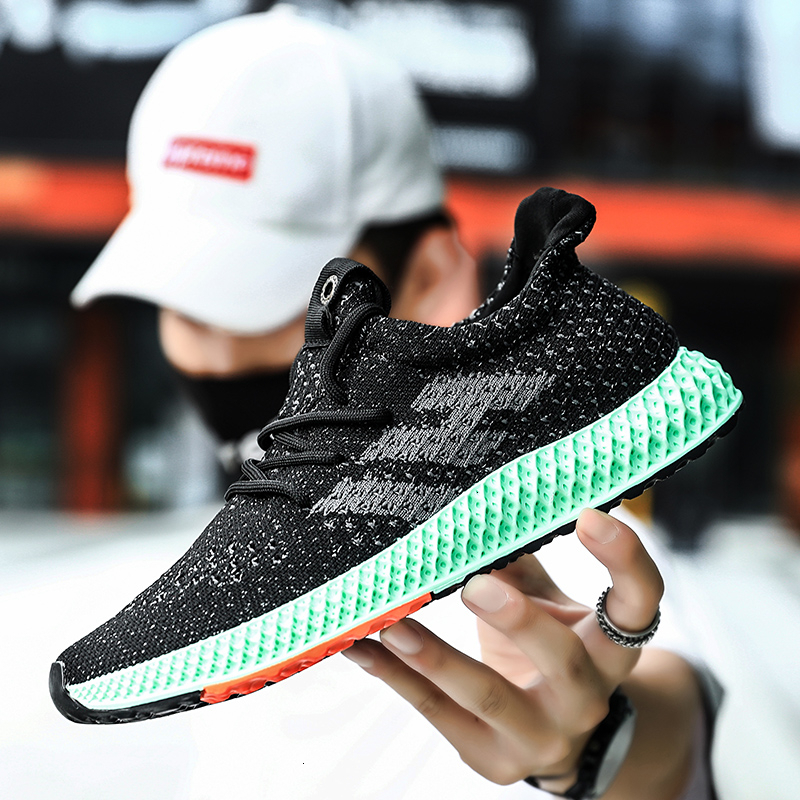 Men Casual Shoes New Mesh Breathable Adult Men Shoes Fashionable Fly Weave Trainer Shoes Design Brand Trend Shoes Men Zapatos
