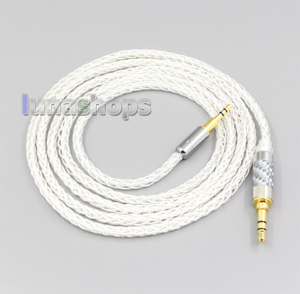 8 Core Silver Plated OCC Earphone Cable For Denon AH-D340 D320 NC800 NC732 NCW500 AKG Y40 Y50 K545 N60c K845 K840 LN006532 image