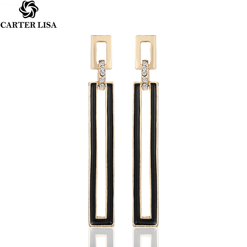 CARTER LISA New Hollow Geometric Drop Earrings For Women Fashion Jewelry Boucle D'oreille Femme Pendientes Mujer Moda 2019