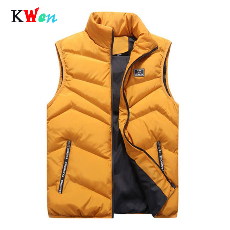 Vest Men Thick Waistcoat Windbreak Casual Style Quality Solid Slim Fit 2019 Autumn Winter Sleeveless Jacket Brand Clothing M-4XL