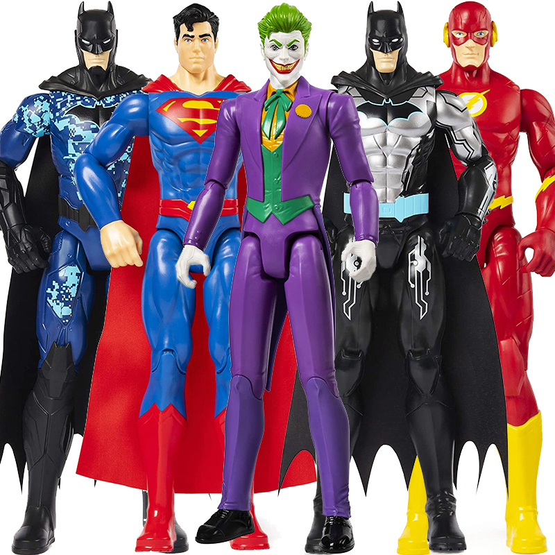 30cm DC Justice League Superman The Joker Flash Batman Riddler Nightwing Green Lantern Batman Doll Action Figure Toy For Kid