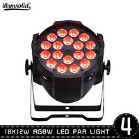 4pcs/lot LED PAR 64 18x12 Watt RGBW for Party Lights Bar KTV DJ Lights Disco Light Stage Light