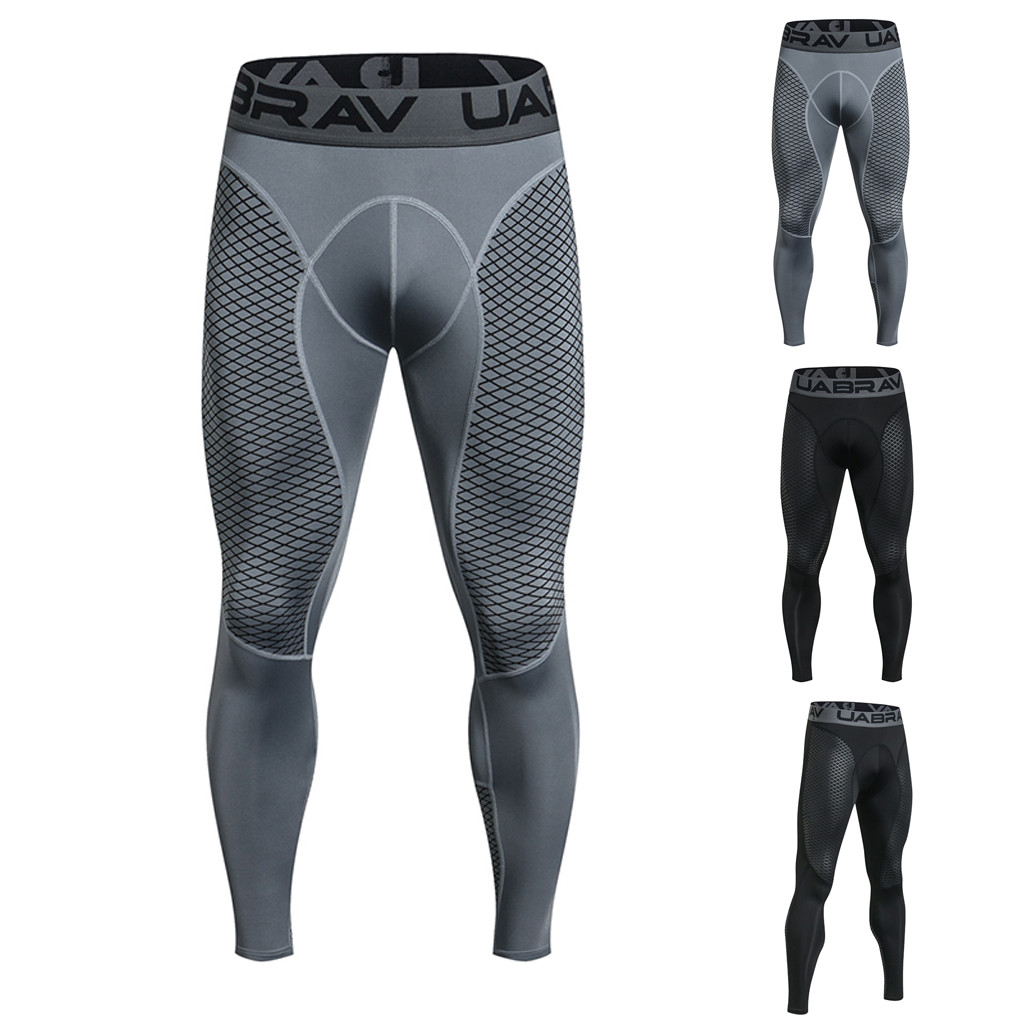 Running Elastic Tight Men's Outdoor Quick-drying Training Elastic Tight Bottom Pants Sports Trousers Stretch Leggings Trousers