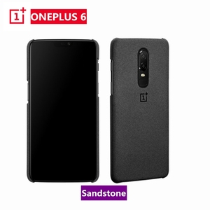 Image 1 - Official For OnePlus 6 Case Cover Original Sandstone Texture Hard PC Case Genuine One Plus 6 A6000 1+6 Cover Protective