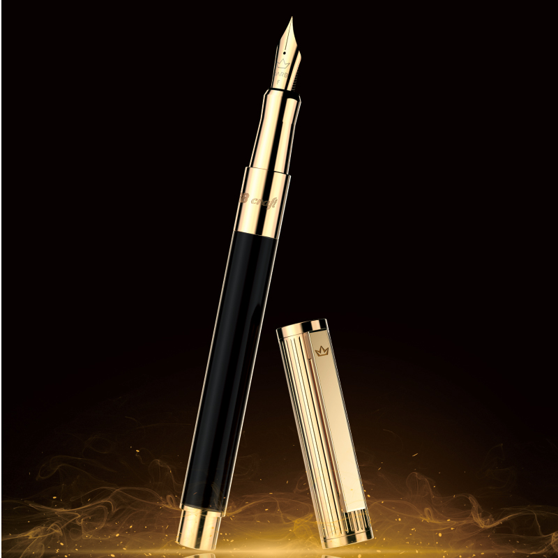 DARB 2002 Fountain Pen High Quality Business Office Metal Writing Pens For School Students  Boutique Gift Classic