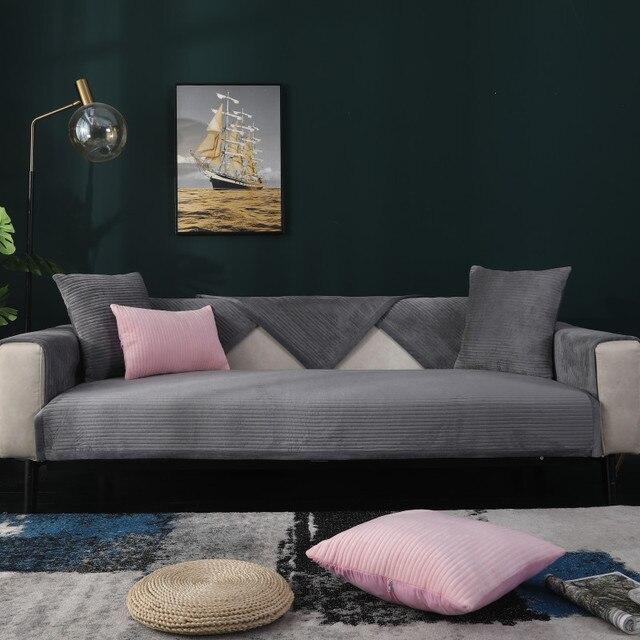 Фото покрывало для дивана из хлопка секционное покрывало черного цена