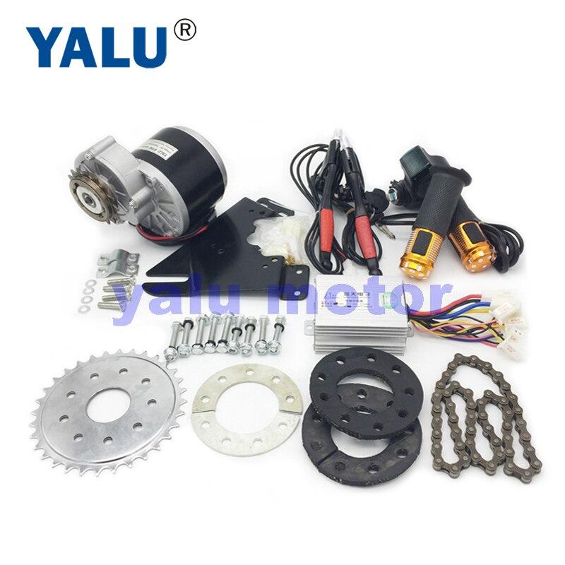 YALU 24V36V 350W Elektrischen Links Stick Fahrrad DC Motor Conversion Kit MY1016 Razor Scooter Variable Mehrere Geschwindigkeit Ebike Kit