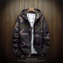 OLOEY Mens New Jackets Spring Autumn Casual Coats Hooded Jacket Camouflage Fashion Male Outwear Brand Clothing 5XL