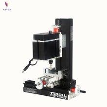 DIY Миниатюрный металлический шестиосевой сверлильный и фрезерный станок маломощная обучающая модель высокоточное производство DIY Инструменты 12 В