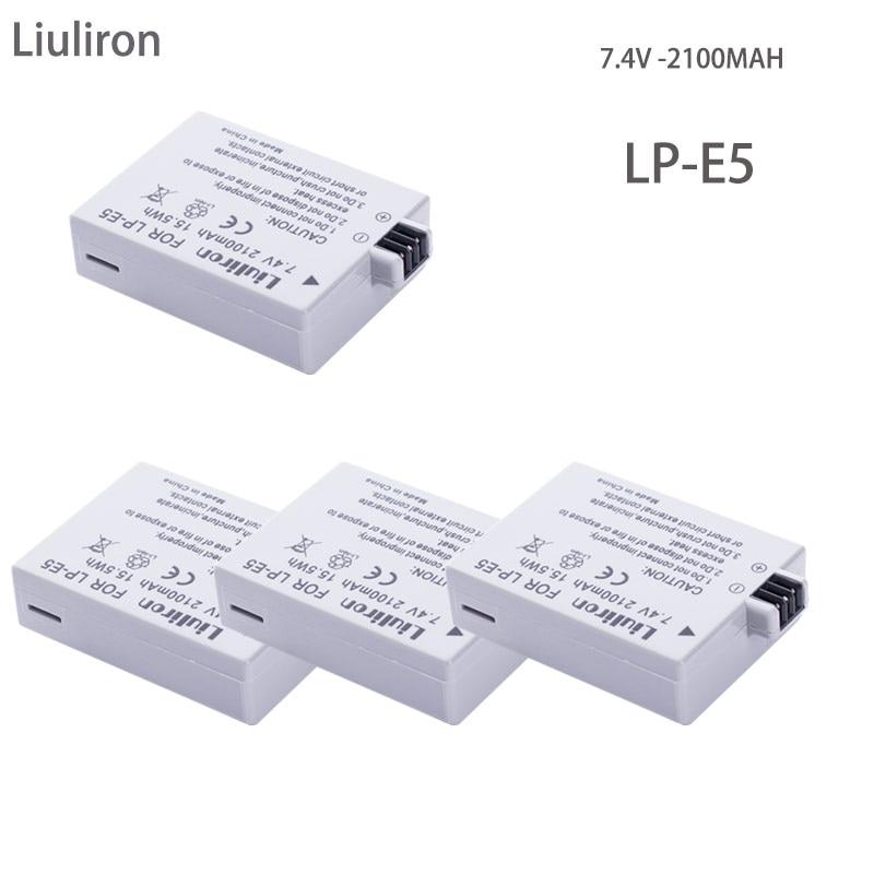 2100mAh LP-E5 LPE5 LP E5 Camera Li-ion Battery For Canon EOS Rebel XS,Rebel T1i,Rebel XSi,1000D,500D,450D,Kiss X3,X2,F