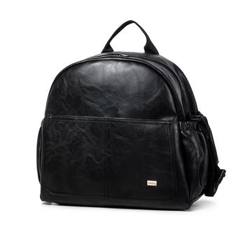 Moda torba do przewijania macierzyństwa dla matki czarna duża pojemność modna torba na pieluchy z 2 paskami plecak podróżny dla dziecka tanie i dobre opinie SOBOBA CN (pochodzenie) zipper (30 cm Max Długość 50 cm) 13cm B0034 Torby na pieluchy 36cm 0 7kg 32cm Stałe