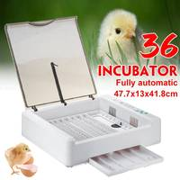 36 Egg Hatchery Incubator Farm Brooder Machine Electronic Automatic Incubator Tools for Chicken Duck Egg Bird Quail Brooder