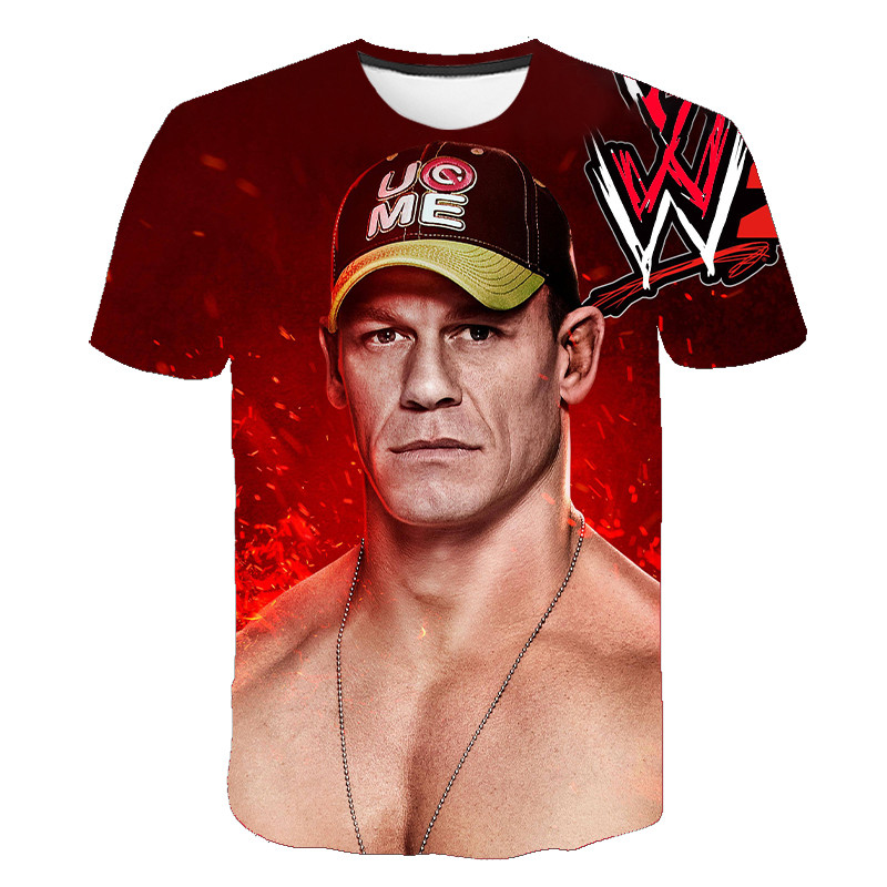 John Cena 2020 New 3D Printed Pattern T-shirt American Wrestling Union WWE Fitness Breathable Fashion Men's Short Sleeve S-6XL