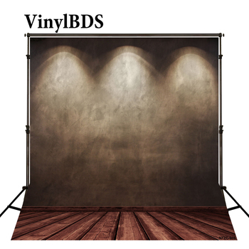 VinylBDS Photography Backdrops Dark Stage Spotlight Wood Brick Wall Backgrounds For Photo Studio фото