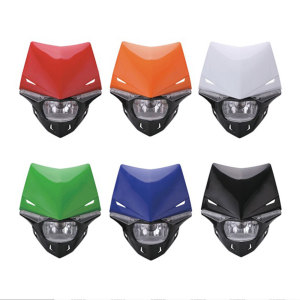 Image 3 - Universal S2 12V 35W Universal Motorcycle Headlight Head Lamp Led Lights and Windshield For Dirt Pit Bike ATV