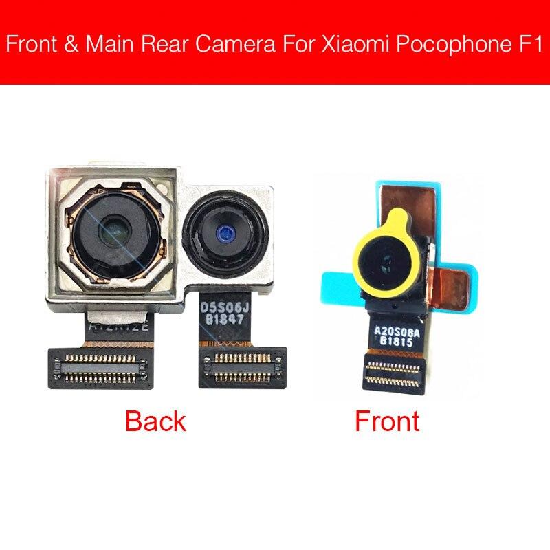 Front & Rear Camera Module For Xiaomi MI Pocophone Poco F1 Main Back Big And Facing Small Camera Flex Cable Replacement Repair