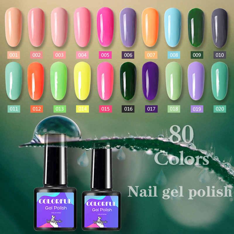 7.5 Ml Uv Gel Nail Polish Nail Art Vernis Semi Permanant LED Kuku Gel Hologram Gel Cat Kuku Gellack gel Top Coat