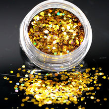 1 Doos Fashion Gold Powder Gel Polish Set Alle Voor Diy Manicure Semi Top Coat Uv Led Gel Varnish Soak off Nail Art Gel Nagellak(China)
