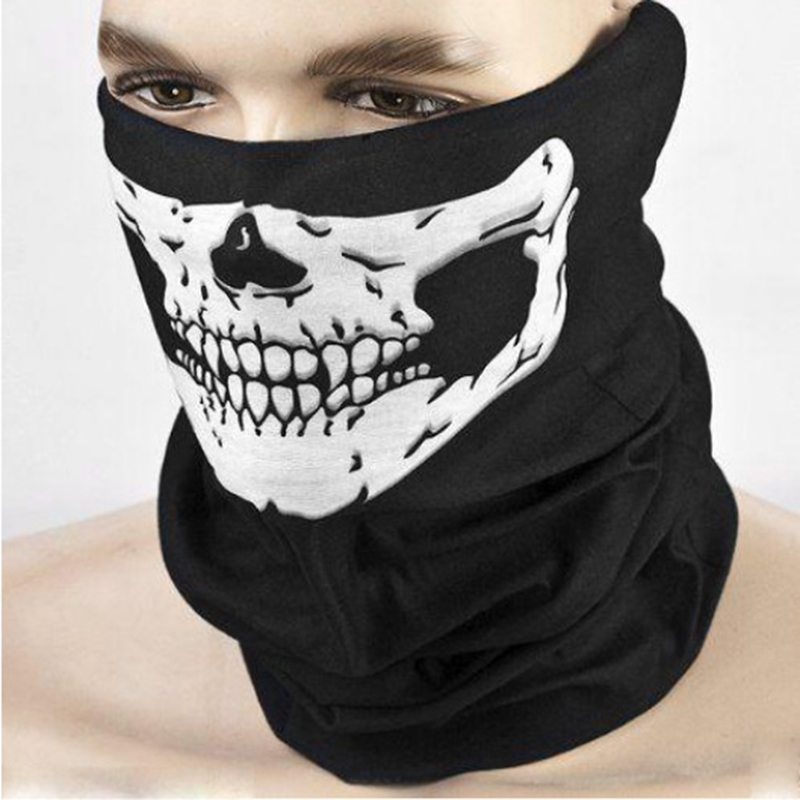Children's Tricky Toys Scary Festival Skull Halloween Masks Skeleton Scarf Half Face Cap Neck Ghost Gags Practical Jokes Toy