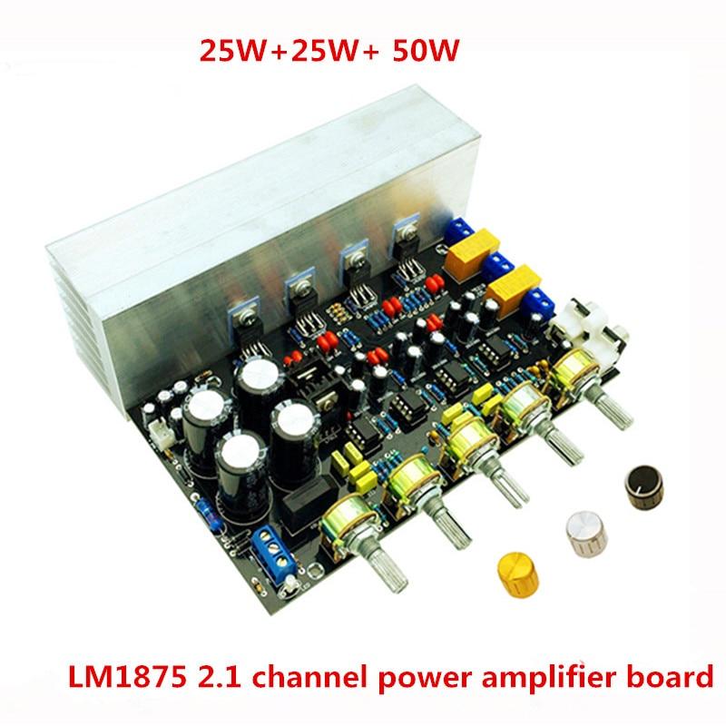 LM1875 fever 2.1 channel 25W+25W+50W Subwoofer audio power amplifier board