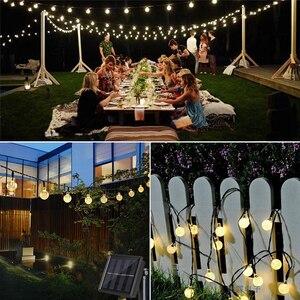 Image 5 - LED חיצוני שמש מנורת קריסטל כדור שמש אורות עמיד למים 5m 20 נוריות חג מסיבת חג המולד עבור חצר וגן קישוט אור
