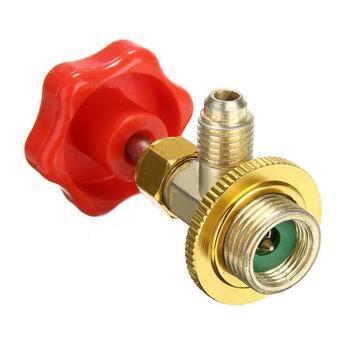 Otwarty zawór r134a chłodnia otwieracz do butelek klimatyzator narzędzia czynnik chłodniczy otwieracz do puszek CT338 339 R12 R600A R22 R134A tanie i dobre opinie CN (pochodzenie) Plastic and Metal Klimatyzacja montaż 0 09kg 1*Opening valve Refrigeration tool 13cm Red and Gold 1 4 SAE