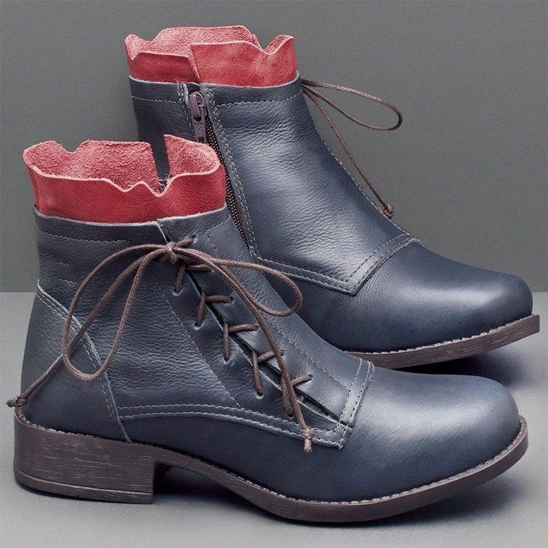 botas com volta laço-up design botas cor