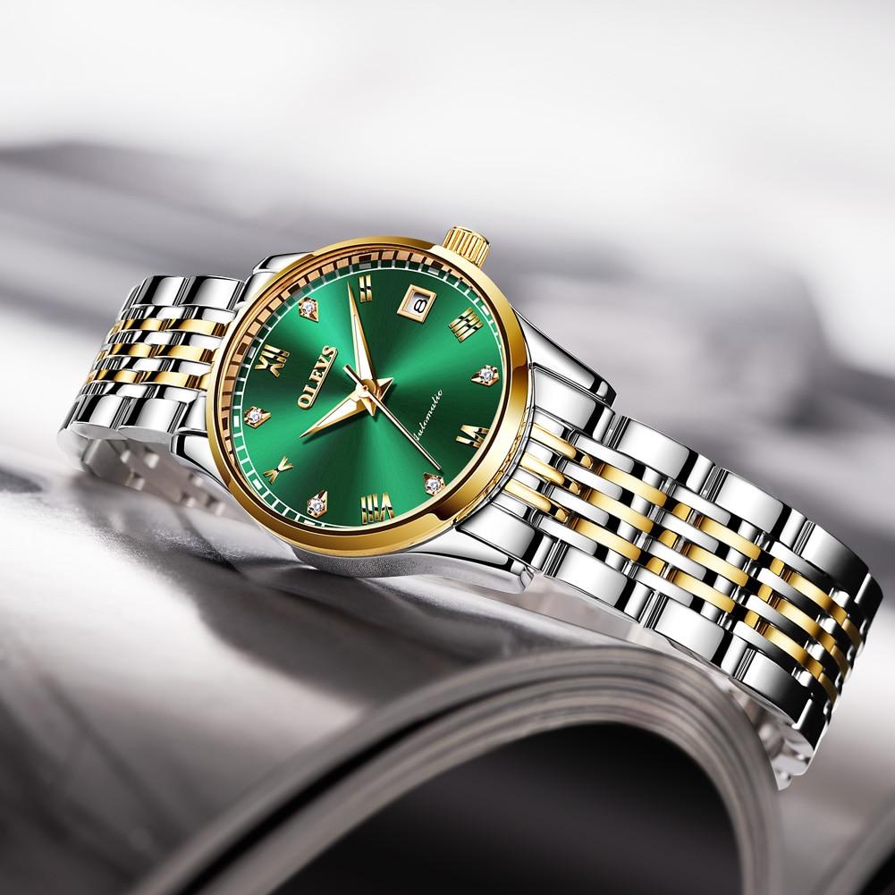 OLEVS  Women Watches Mechanical Watch Luxury Bracelet Wrist Wristwatch Elegant Ladies Automatic Clock Watch Relogio Feminino 3