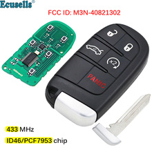 5 Buttons Smart Remote Key Fob 433MHz with 7953A Chip for Dodge Dart Charger Challenger Chrysler 300 Jeep M3N40821302