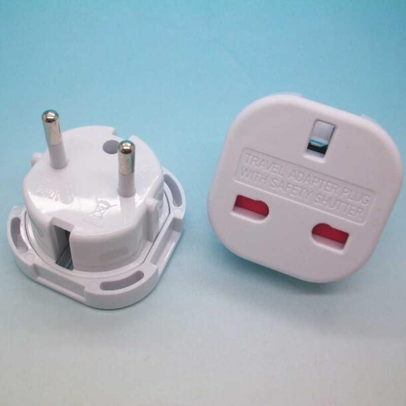 Zwart/Wit Uk Naar Eu Europa Europese Universal Travel Charger Adapter Plug Converter 2 Pin Muur Stopcontact