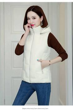 New 2020 Autumn And Winter Women Cotton Vest Warm Hooded Waistcoat Plus Size 3XL Female Coat