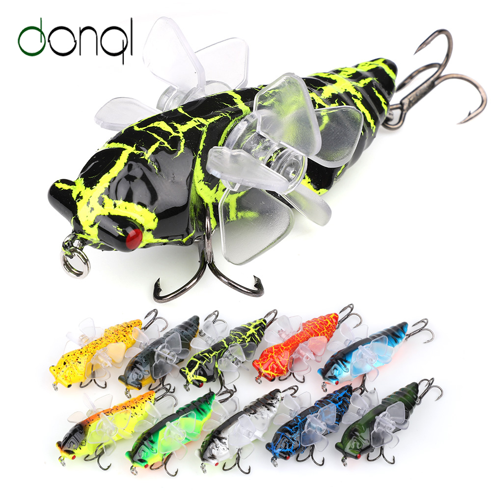 Fishing Topwater Insect Hard Bass Lure Weight 6g Length 7.5CM