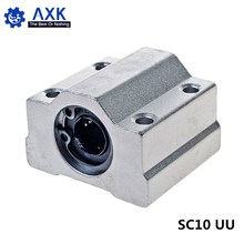 цена на 1pc SC10UU SCS10UU 10mm Linear Ball Bearing Block CNC Router with LM10UU Bush Pillow Block Linear Shaft for CNC 3D printer parts