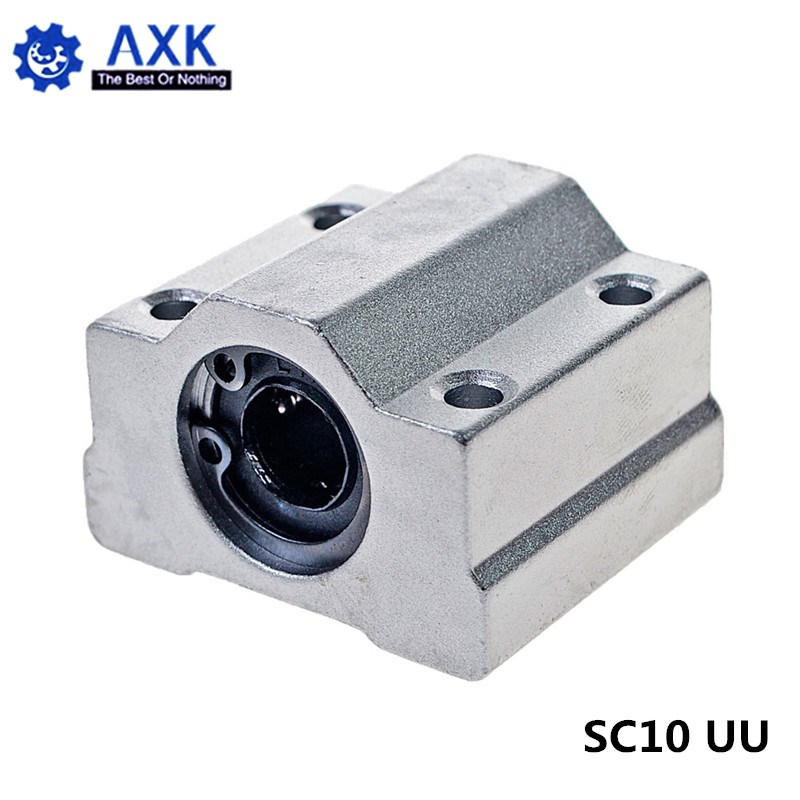 2//4pcs SC10UU 10mm Linear Motion Ball Bearing Slide Bushing For CNC 3D Printer