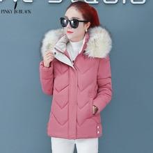 PinkyIsBlack Womens Parka Casual Outwear Autumn Winter Hooded Coat Winter Jacket Women Fur Coats Women Winter Jackets And Coats стоимость