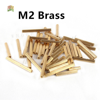 30/50pcs M2/M3*3/4/5/6/7/8/10/11/12/13/14/15/16/17/18/19/20mm Brass Round Standoff Spacer Female Female M2 Brass Threaded Spacer image