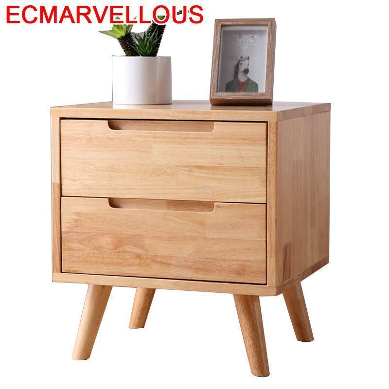Para el lado night stand nordic europeu do vintage móveis quarto de madeira mueble de dormitorio quarto armário mesa cabeceira