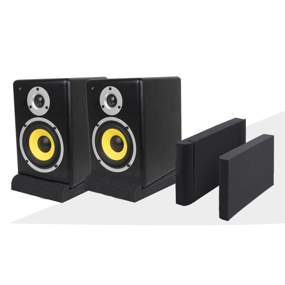 1set High Density Shock Resistance Studio Black Acoustic Isolation Replacement Monitor Accessories Home Speaker Pad