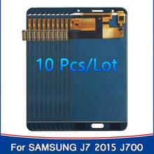Venta al por mayor 10 piezas TFT para SAMSUNG Galaxy J7 2015 J700 LCD J700F J700M J700H LCD pantalla táctil digitalizador piezas de montaje