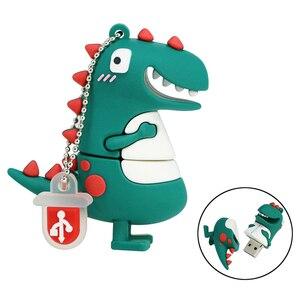 Memory Stick Dinosaur Monster Cute Pen drive 128GB 32GB 64GB 256GB 8 4 16 gb Pendrive USB key Flash drive mini gift U Disk 32 G