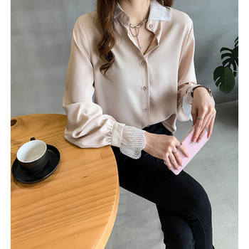 Loose Maternity Blouses Shirts Lace Long Sleeve Blouse Tops Clothes for OL Pregnant Women Pregnancy Nursing Clothings Plus Size summer striped maternity blouses shirts o neck tops blouse clothes for casual ol pregnant women pregnancy clothing plus size