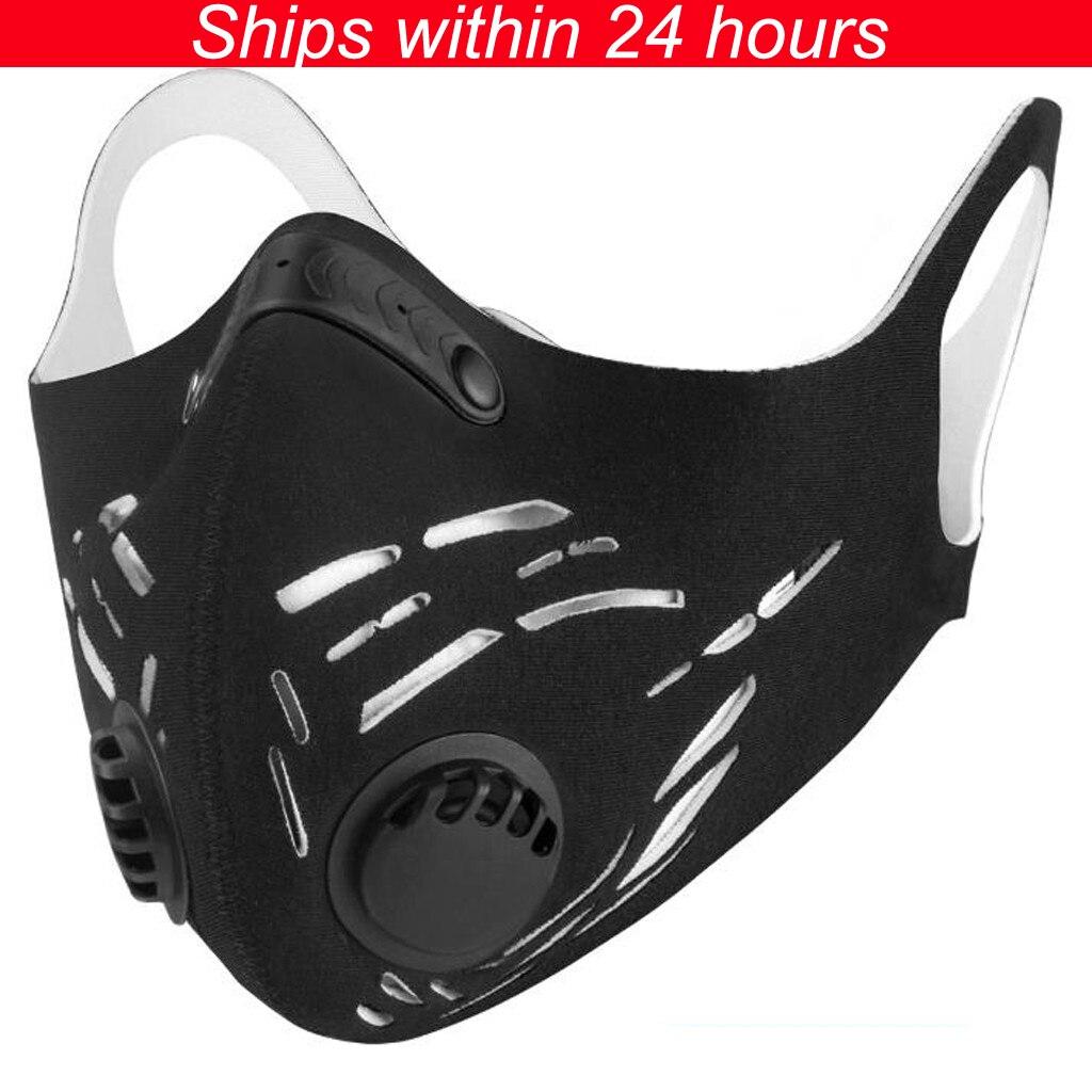 Reusable Face Mask Activated Carbon PM2.5 Outdoor Mask Unisex Mouth Mask Mascaras Faciais Gripe