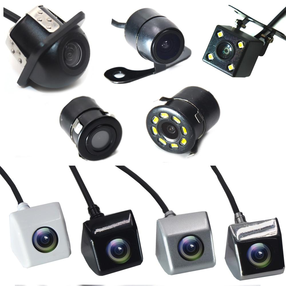 Byncg câmera de visão traseira do carro 4 led visão noturna invertendo monitor estacionamento automático ccd à prova dwaterproof água 170 graus vídeo hd